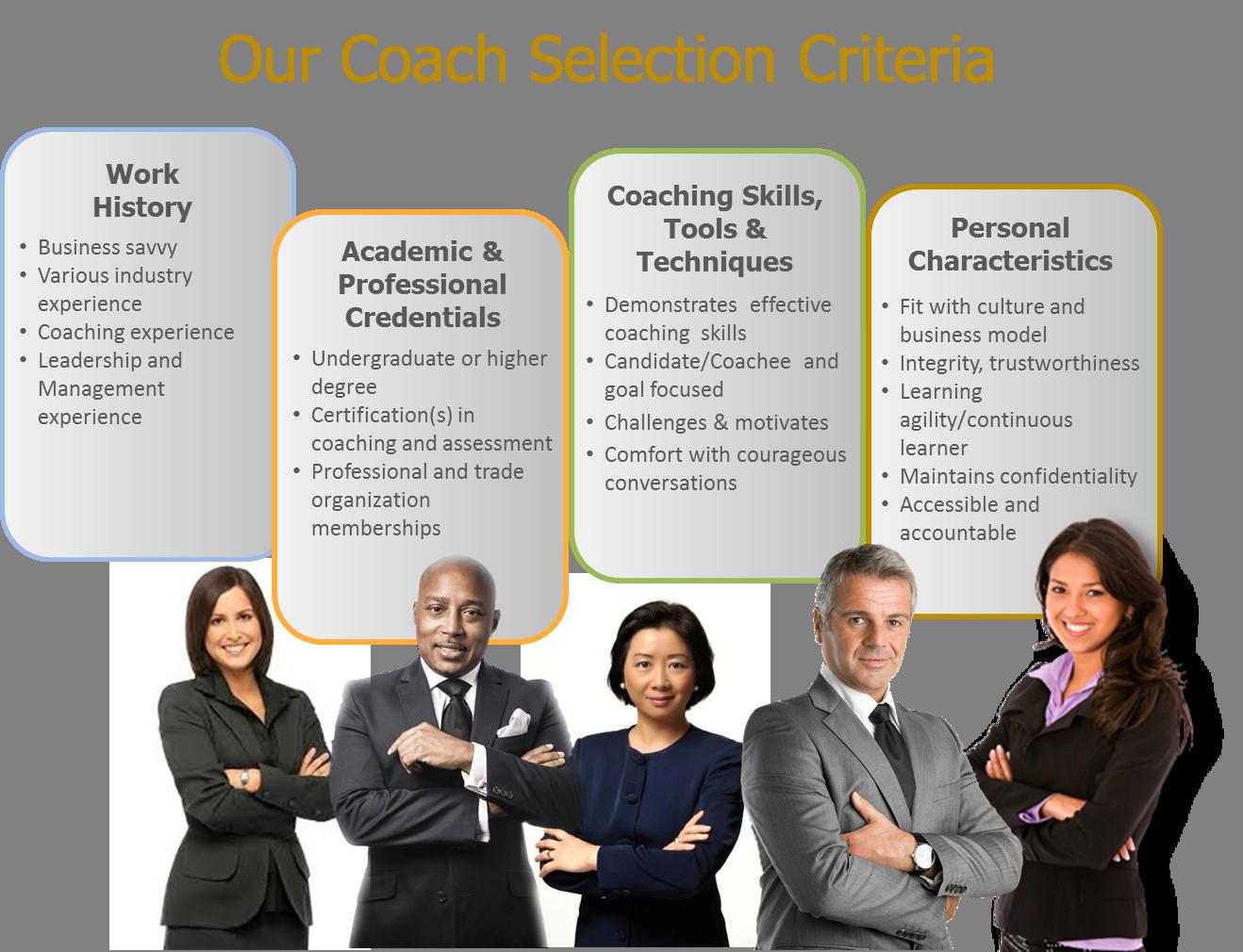 Our Coaching Criteria