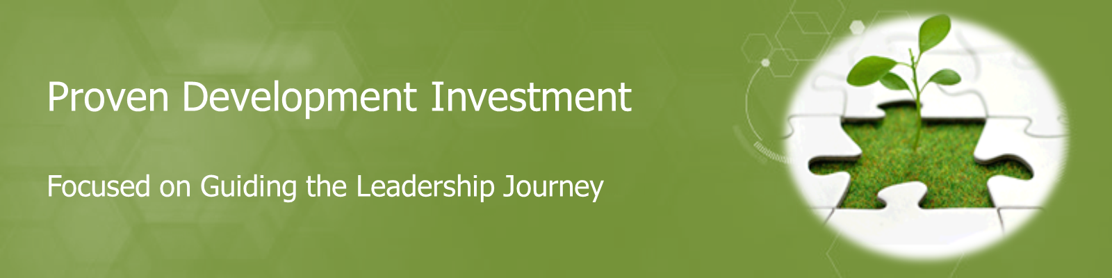 Proven Development Coaching an Investment Focused on Guiding the leadership journey.